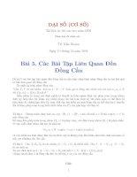 Tài liệu Ôn tập đại số cơ sở bài 5-TS Trần Huyền pptx