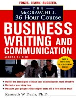 Business writing and communication