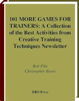 Tài liệu 101 MORE GAMES FOR TRAINERS ppt