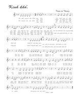 Tài liệu Bài hát kinh khổ - Trầm Tử Thiêng (lời bài hát có nốt) pdf