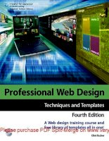 Tài liệu Professional Web Design: Techniques and Templates- P1 ppt