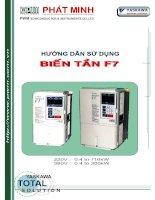 Tài liệu Tài liệu Hướng dẫn sử dụng biến tần F7 ppt
