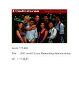 Tài liệu ActualTests Exam: 117-202 Title : LPIC Level 2 Linux Networking Administration Ver : 11.22.03 pptx