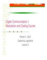 Tài liệu Modulation and coding course- lecture 3 pptx