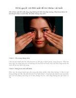 Tài liệu 10 bí quyết với Đôi mắt để trẻ thêm vài tuổi pdf