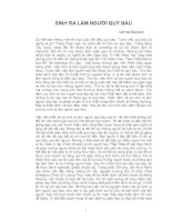 Tài liệu SINH RA LÀM NGƯỜI QUÝ BÁU- Lạt ma Gursam docx