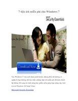 Tài liệu 7 tiện ích miễn phí cho Windows 7 pdf