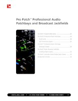 Tài liệu Pro Patch™ Professional Audio Patchbays and Broadcast Jackfields pptx