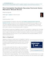 the complete facebook success formula every marketer should know