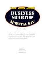 Tài liệu Business Startup survival kft ppt