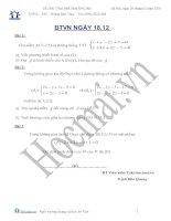 Tài liệu BTVN ngày 18.12 hình học không gian (Bài tập và hướng dẫn giải) doc