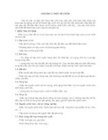 Tài liệu CHƯƠNG 2: THIẾT KẾ VƯỜN pdf