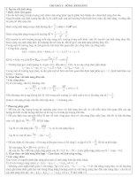lý thuyết và bài tập chương sóng ánh sáng 12 luyện thi đại học