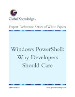 Tài liệu Windows PowerShell: Why Developers Should Care pptx
