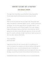 Tài liệu LUYỆN ĐỌC TIẾNG ANH QUA TÁC PHẨM VĂN HỌC-SHORT STORY BY O'HENRY- One Dollar''''s Worth pptx
