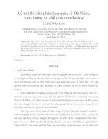Lễ hội thi bắn pháo hoa quốc tế đà nẵng, thực trạng và giải pháp marketing