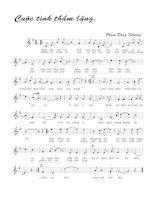 Tài liệu Bài hát cuộc tình thầm lặng - Phạm Đăng Khương (lời bài hát có nốt) docx