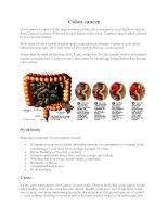 Tài liệu Colon cancer pdf
