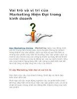 Vai trò và vị trí của marketing hiện đại trong kinh doanh