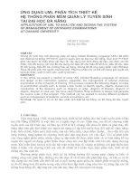 Tài liệu Ứng dụng UML phân tích thiết kế hệ thống phần mềm quản lý tuyến sinh ppt
