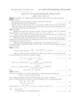 Tài liệu Đáp án đề thi Đại học môn Vật lý khối A 2002 ppt