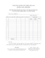 Tài liệu BM.KHCN.06 - Bản kê khai cơ sở vật chất - kỹ thuật đăng ký của tổ chức khoa học và công nghệ doc