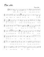 Tài liệu Bài hát đợi chờ - Thuận Yến (lời bài hát có nốt) ppt