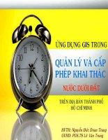 Luận văn Ứng dụng GIS trong quản lý và cấp phép khai thác nước dưới đất khu vực Thành phố Hồ Chí Minh