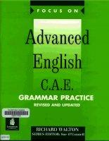 Tài liệu Focus on Advanced English C.A.E - Grammar practice doc