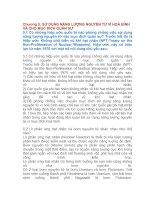 Tài liệu Chương 5: SỬ DỤNG NĂNG LƯỢNG NGUYÊN TỬ VÌ HOÀ BÌNH VÀ CHO MỤC ĐÍCH QUÂN SỰ docx