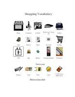 Tài liệu Shopping Vocabulary ppt