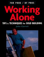 Working alone   tips and techniques for solo building