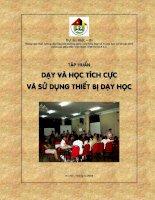 Tài liệu Dự án Việt-Bỉ - Nâng cao chất lượng đào tạo bồi dưỡng giáo viên tiểu học và trung học cơ sở các tỉnh miền núi phía Bắc Việt Nam (VIE 04 019 11) pptx