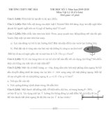 Tài liệu ĐỀ THI TRẮC NGHIỆM HỌC KỲ 1 LÝ 10 CB,NC TRƯỜNG THPT PHÚ BÀI ( có ĐA) ppt