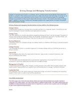 Tài liệu Driving Change and Managing Transformation doc