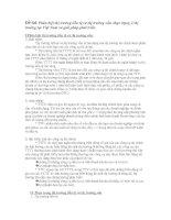 Tài liệu Phân biệt thị trường tiền tệ và thị trường vốn. thực trạng 2 thị trường tại Việt Nam và giải pháp phát triển. pdf