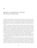 Tài liệu MERGERS AND ACQUISITIONS IN BANKING AND FINANCE PART 4 pdf