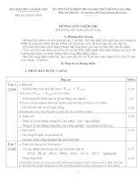 Tài liệu Hướng dẫn chấm thi môn Địa tốt nghiệp THPT năm 2006 pptx