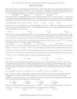 Bài tập con lắc lò xo - luyện thi đại học