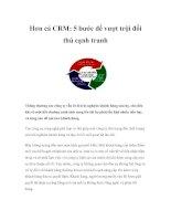 Tài liệu Hơn cả CRM: 5 bước để vượt trội đối thủ cạnh tranh pptx