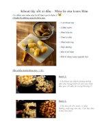 Tài liệu Khoai tây sốt xì dầu – Món tủ của teens Hàn pptx