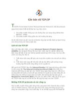 Tài liệu Căn bản về TCP/IP T CP/IP (Transmission Control Protocol/Internet Protocol) là một bộ pptx