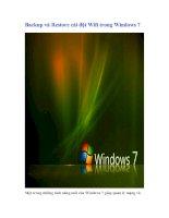 Tài liệu Backup và Restore cài đặt Wifi trong Windows 7 docx