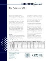 Tài liệu KRONE facts - The Future of UTP pdf