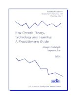 Tài liệu New Growth Theory,Technology and Learning: A Practitioner's Guide doc