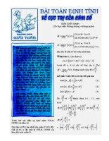 Tài liệu Bài toán định tính về cực trị của hàm số pptx