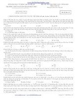 Đề thi thử đại học môn vật lý trường chuyên phan bội châu lần 1 năm 2013