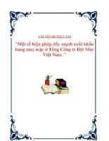"""Tài liệu Đề tài """" Một số biện pháp đẩy mạnh xuất khẩu hàng may mặc ở Tổng Công ty Dệt May Việt Nam"""" docx"""