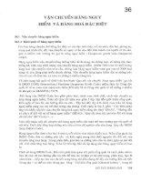 Tài liệu Sổ tay hàng hải - Vận chuyển hàng hóa nguy hiểm và hàng hóa đặc biệt pdf