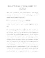 Tài liệu LUYỆN ĐỌC TIẾNG ANH QUA TÁC PHẨM VĂN HỌC-THE ADVENTURES OF HUCKLEBERRY FINN CHAPTER 20 pdf